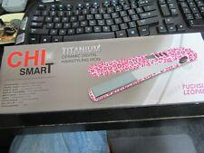 CHI SMART TITANIUM CERAMIC 3 N 1 STYLING WAND INTERCHANGEABLE FUCHSIA LEOPARD