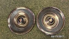 "1874MM Vtg 1960's Buick 15"" Turbine Hubcaps Pair 2 PRETTY NICE CONDITION !!"