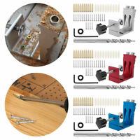 Pocket Hole Jig Kit für Holzbearbeitung Tischlerei mit Base /& Clamp Bohrer