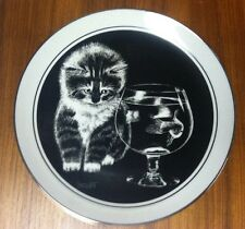 Kitten's World Collector Plate by Droguett w/ Coa and box # 18072