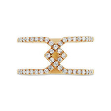 Womens Cocktail Right Hand Size 7 14K Yellow Gold Diamond Ring Crossover X
