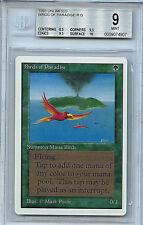 MTG Unlimited Birds of Paradise BGS 9.0 (9) Card Magic the Gathering WOTC