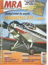 """MRA N°778 PLAN CACAHUETE RC """"MOUSTIC"""" / BEAVER / MOTORISER UN PLANEUR FORMAT 400"""