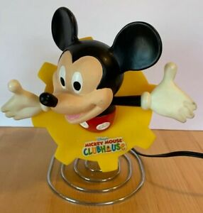Disney Mickey Mouse Clubhouse Light Nightlight Lamp Yellow Cog Metal Coil Plug