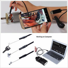 Portable 2in1 HD Endoscope Car Autos LED Waterproof HD USB Inspection Camera Kit