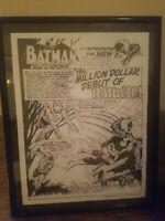 """Detective Comics 359 DC 1967 Batman Origin Batgirl Splash Page 22"""" x 29"""" Print"""