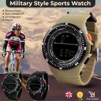 Mens Sports Army Military style Diver Wrist Watch Digital W proof Fashion SKMEI