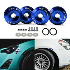 Aluminum JDM Quick Release Fasteners Car Bumper Trunk Fender Hatch Lids Kit Blue