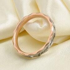 Fashion Unisex Titanium Steel Couple Wedding Band Lovers Engagement Promise Ring