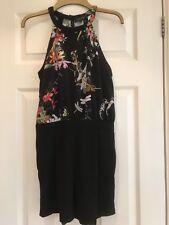 Ladies/Girls River Island Black/Floral Mini Playsuit - UK Size 8
