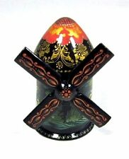 Original Russian Hand Painted Box - Windmill, Palekh Fairy Tale Art
