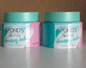 LOT OF 2 POND'S MAKEUP REMOVER CLEANSING BALM COLD CREAM SKIN MOISTURIZER 3.38OZ