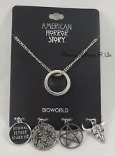 New American Horror Story Coven Ring Multi Charm Necklace Wear Black Wednesdays