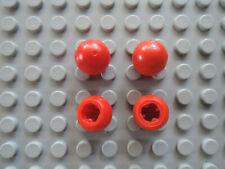 LEGO 4 x Technic Ball Kugel 32474 rot Achsloch 7020 7259 3061