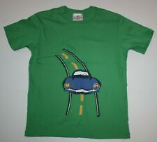 Used Hanna Andersson Boys 8 year 130 cm Short Sleeve Soft Race Car Graphic Green