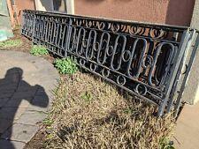 Vintage Mid Century Modern Wrought Iron Fence 55' Garden Architectural Railing