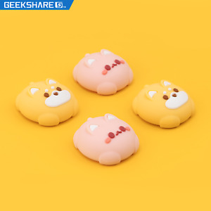 GeekShare Cute Dog Cat Silicone Thumb Grip Set Joystick Caps For PS4&PS5&NS Pro