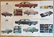1964 Chrysler Sales Brochure Poster New Yorker 300 Newport Original Vintage