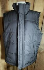 Men's Brown Sonoma Life + Style Vest With Stand-up Collar Size Large