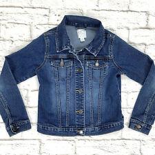 Childrens Place Denim Jacket Girls Size L 10-12 Button Up Blue
