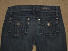 Rock & Republic Size 24 Scorpion Dark Blue Stretch Flap Pocket Flare Womens Jean