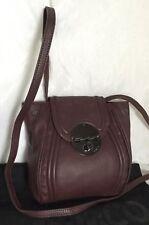 MIMCO Burgundy Leather Cross Body/Shoulder Bag / Handbag With Dustbag