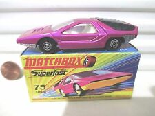 Lesney Matchbox 1970 MB75B Dark Pink ALFA CARABO Car UNPAINTED Base Nu in C9 Bx