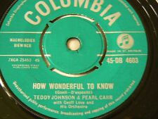 teddy johnson and pearl carr     how wonderful to know   EX-