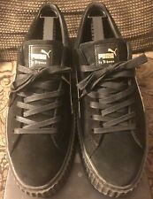 Puma Fenty Suede Creepers By Rihanna Black Star White Men's Size 12