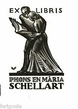 EX-LIBRIS de Valentin LE CAMPION pour Phons & Maria Schellart.
