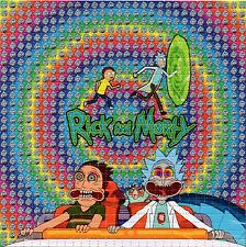 Rick and Morty Fear & Loathing BLOTTER ART Perforated Sheet LSD acid paper tabs