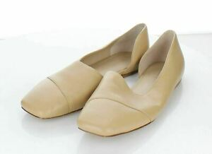 27-71  $275 Women's Sz 6.5 M Vince Cyder Leather d'Orsay Flat In Cappuccino