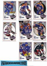 2009-10 Upper Deck Hockey Heroes Mark Messier COMPLET SET HH19 TO HH26