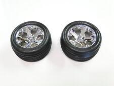NEW TRAXXAS RUSTLER Wheels & Tires Front VXL RUE12