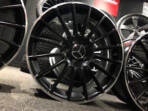 "Ex Display 18"" Mercedes AMG C63 Style Satin black Alloy Wheels A-Class CLA +"