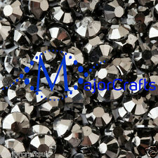 2000pcs Jet hematites 4mm Ss16 Piso Trasero Resina Strass Diamante Gemas C31