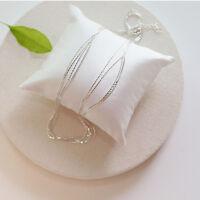 Real 925 Silver Bracelet Multi Layer Chain Bracelets Pulsera For Women Jewelry