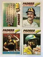 1977 Topps San Diego Padres Team Set - (26) Cards - Rollie Fingers