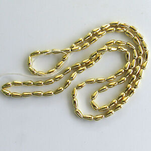 Japanese 4x8mm LIGHT Gold Teardrop Strand *** Only 1 Available ***