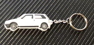 Fiat Uno Ie Turbo Car Key Anello - White