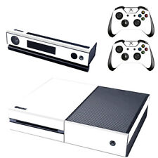 Xbox One Console Plain White Skin 2x Controller Stickers Decal FacePlate Cover