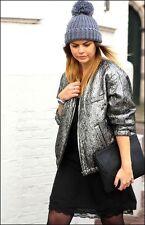 ISABEL MARANT for H&M Jacket Reversible Silk Metallic Silver Bomber Jacket NEW
