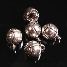 20pcs 14*10mm charms Football solid Ball Pendant DIY Jewelry Tibet Silver A7678