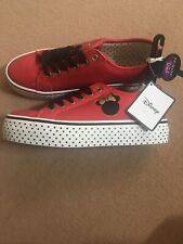 DISNEY MINNIE MOUSE Mickey Platform Shoes Red Trainers Polka Dot Primark Size 5