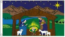 Christmas Nativity Scene Mary Joseph and Jesus Banner 5'x3' (150cm x 90cm) Flag