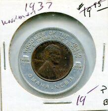 1937 Wheat Penny Woodmen of the World Good Luck Token Coin Omaha NE Insurance