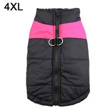 Pet Vest Jacket Warm Waterproof Dog Outdoor Costume Pink 4xl