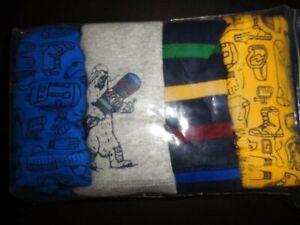 NWT Gap Kids Snowboarder Striped Trunks Briefs Size 8 Medium 4 Pack