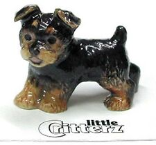 ➸ LITTLE CRITTERZ Dog Miniature Figurine Yorkshire Terrier Yorkie Smoky