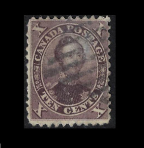canada stamps - colony issues 1859 - 10c purple prince albert - sg34